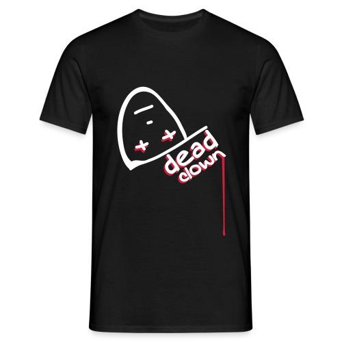 Emo Shirt - Dead Clown (White / Red) - Men's T-Shirt