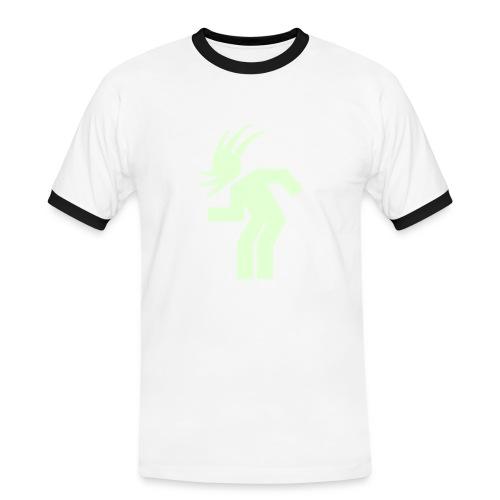 Glowing Headbang - Männer Kontrast-T-Shirt