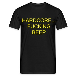 'beep' Hardcore Tee ;) - Men's T-Shirt