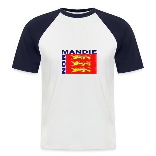 Trois léopards - T-shirt baseball manches courtes Homme