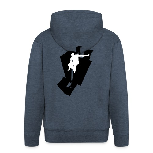 Granite Parkour Men's Longsleeves - Men's Premium Hooded Jacket