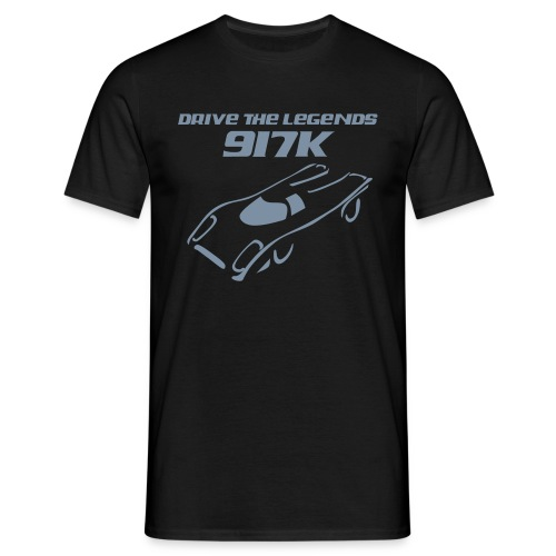 drive 917k - Shirt: grün; Druck: silber-metallic - Männer T-Shirt