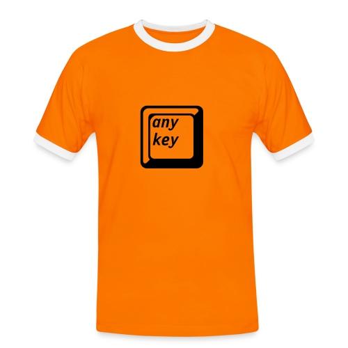 any key shirt - Koszulka męska z kontrastowymi wstawkami