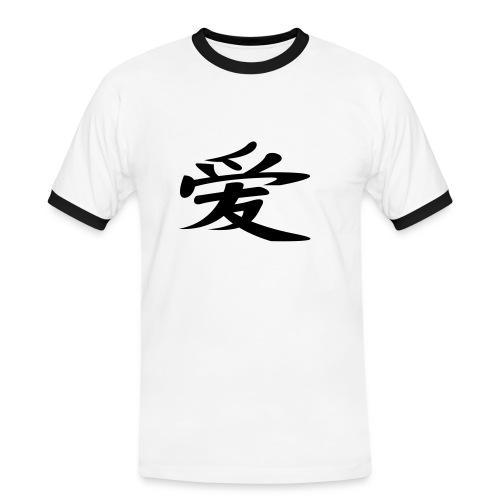 chiński znak pomyślności shirt - Koszulka męska z kontrastowymi wstawkami