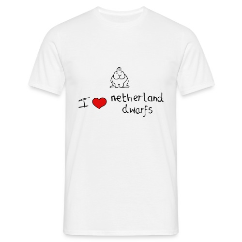 I Love Netherland Dwarfs - Men's T-Shirt