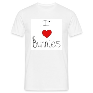 I Love Bunnies - Men's T-Shirt