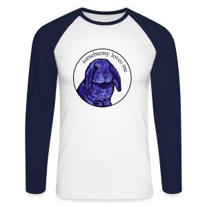Somebunny Loves Me - Men's Long Sleeve Baseball T-Shirt