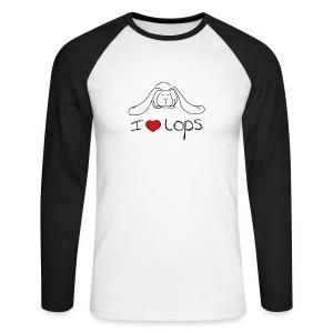 I Love Lop Rabbits - Men's Long Sleeve Baseball T-Shirt