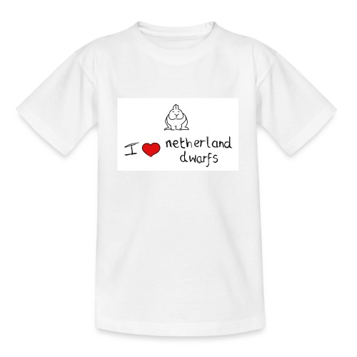 I Love Netherland Dwarfs - Teenage T-Shirt