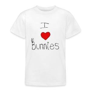I Love Bunnies - Teenage T-shirt