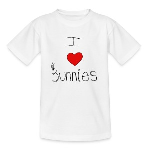 I Love Bunnies - Teenage T-shirt