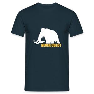 Never cold! - T-skjorte for menn