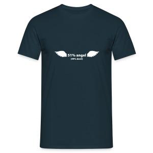 51% angel - 49% devil - T-skjorte for menn