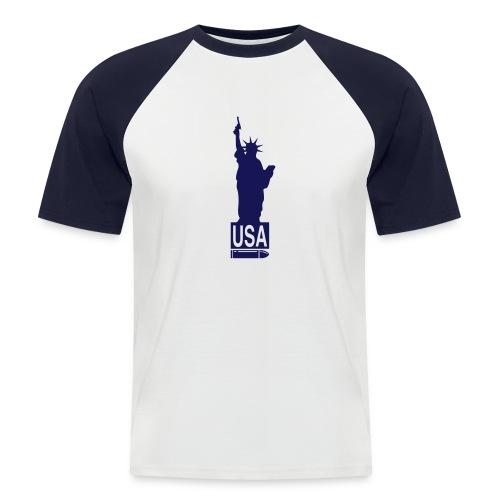 USA - Mannen baseballshirt korte mouw
