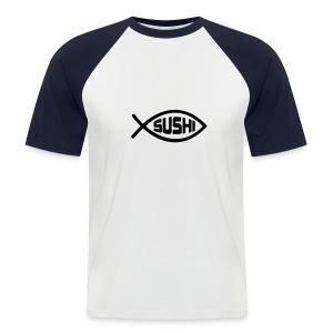 Sushi - Mannen baseballshirt korte mouw