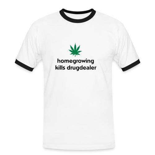Homegrowing kills drugdealer - Mannen contrastshirt