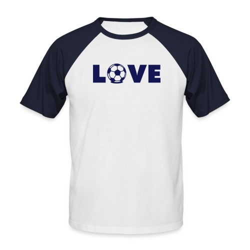 LOVE! - Männer Baseball-T-Shirt