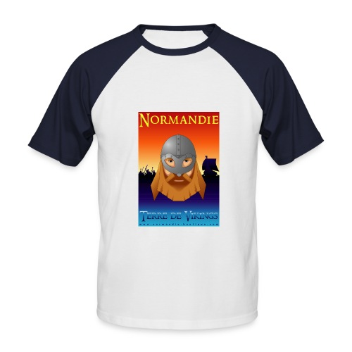 Guerrier Viking - T-shirt baseball manches courtes Homme