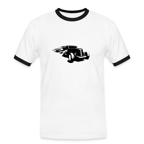 HotRod front - Mannen contrastshirt