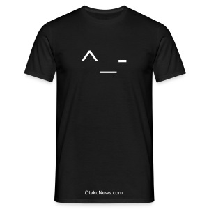 Anime Smiley Winking Glow In The Dark Comfort T-shirt - Men's T-Shirt