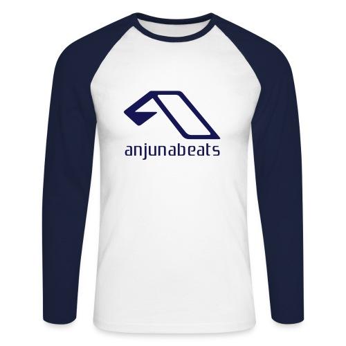 Anjuna Granatowa - Koszulka męska bejsbolowa z długim rękawem