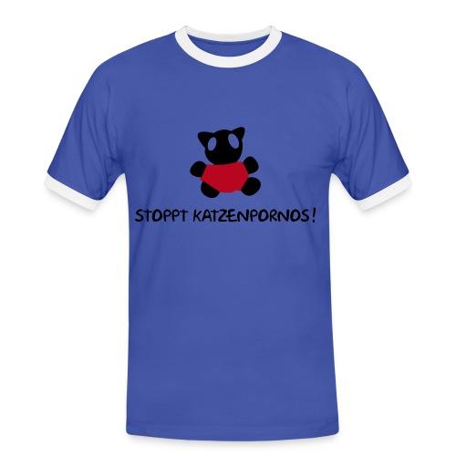 Kätzchen Girly Shirt - Männer Kontrast-T-Shirt