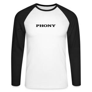 Phony - Men's Long Sleeve Baseball T-Shirt