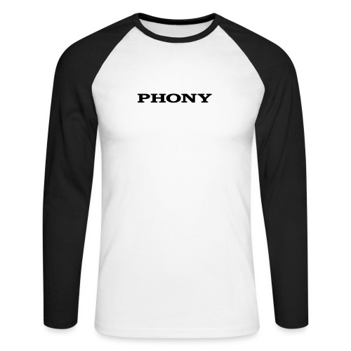 Phony - Men's Long Sleeve Baseball T-Shirt