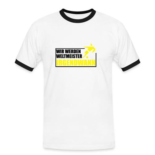 Sicher ist sicher. - Männer Kontrast-T-Shirt