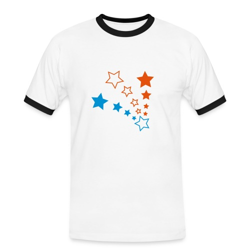 T-shirt Rétro Homme Blanc - T-shirt contrasté Homme