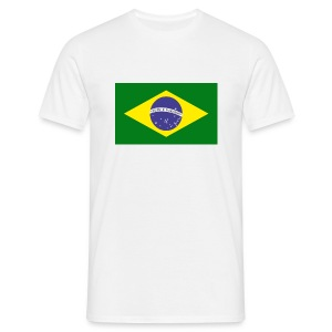 Brazil Flag Tee Shirt - Men's T-Shirt