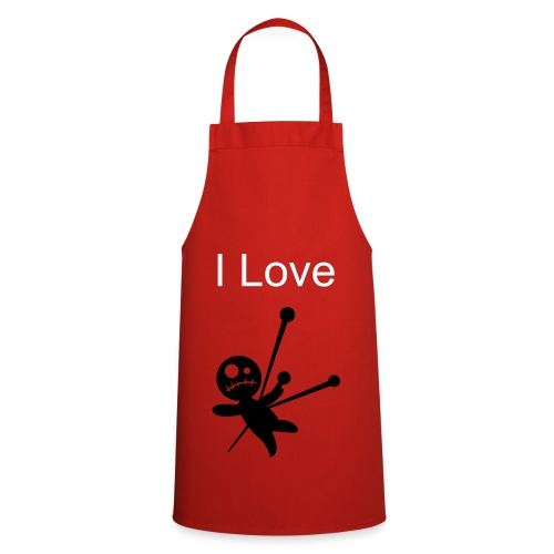 I Love Pain Apron (In Red) - Cooking Apron
