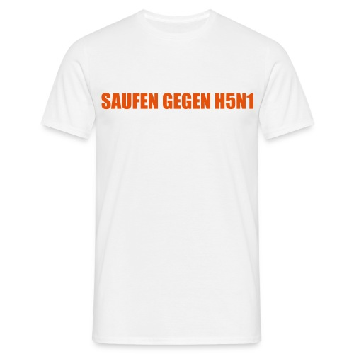 TH5N1 TDundA S. gegen H5N1 WHITE - Männer T-Shirt