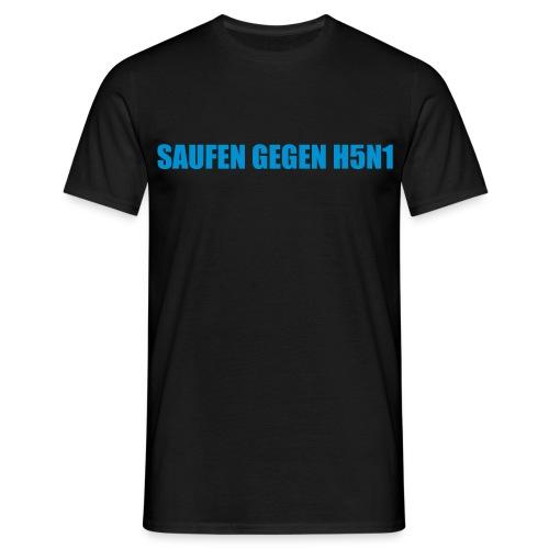 TH5N1 TDundA S. gegen H5N1 BLACK - Männer T-Shirt