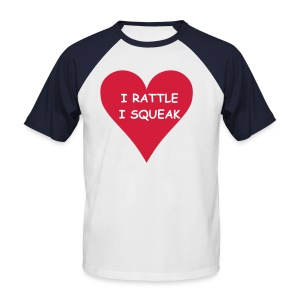 Men's Baseball T-Shirt - I RATTLE - I SQUEAK