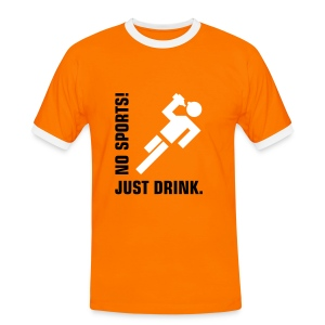 No sports, just drink - Kontrast-T-skjorte for menn
