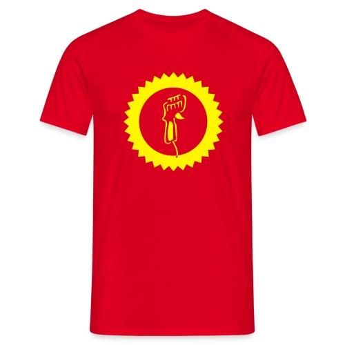 Controller - Shirt: rot; Druck: gelb - Männer T-Shirt