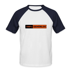 100% Gehörlos - Männer Baseball-T-Shirt