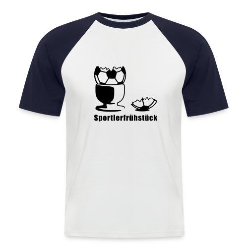 Sportlerfrühstück - Männer Baseball-T-Shirt