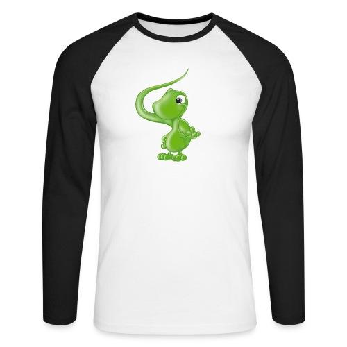 ILY Eidechse - Männer Baseballshirt langarm