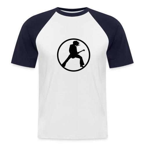 Miesten lyhythihainen baseballpaita - T-paita rock-aiheisella painatuksella.