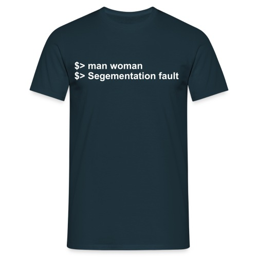 man woman - Männer T-Shirt