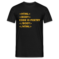 T-Shirts ~ Men's T-Shirt ~ HTML Code is Poetry