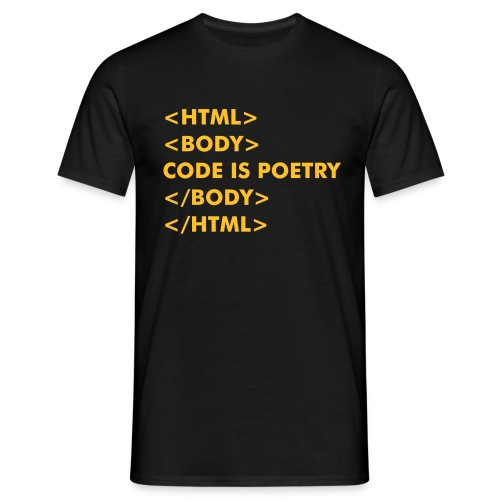 HTML Code is Poetry - Men's T-Shirt