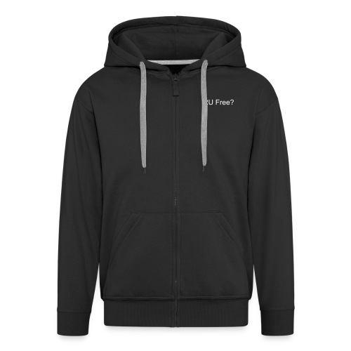 RU Free? - Men's Premium Hooded Jacket