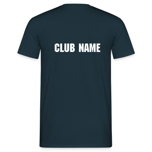 T-shirt with club name on rear. Blue - Men's T-Shirt