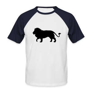 Raging Lion by Jamie Rose - Men's Baseball T-Shirt