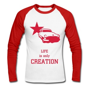 T-shirt manches longues Life Is Only Creation - Men's Long Sleeve Baseball T-Shirt