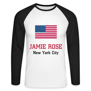T-shirt manches longues Jamie Rose New York City - Men's Long Sleeve Baseball T-Shirt