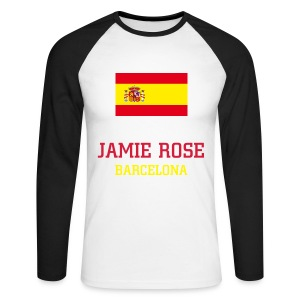 T-shirt manches longues Jamie Rose Barcelona - Men's Long Sleeve Baseball T-Shirt